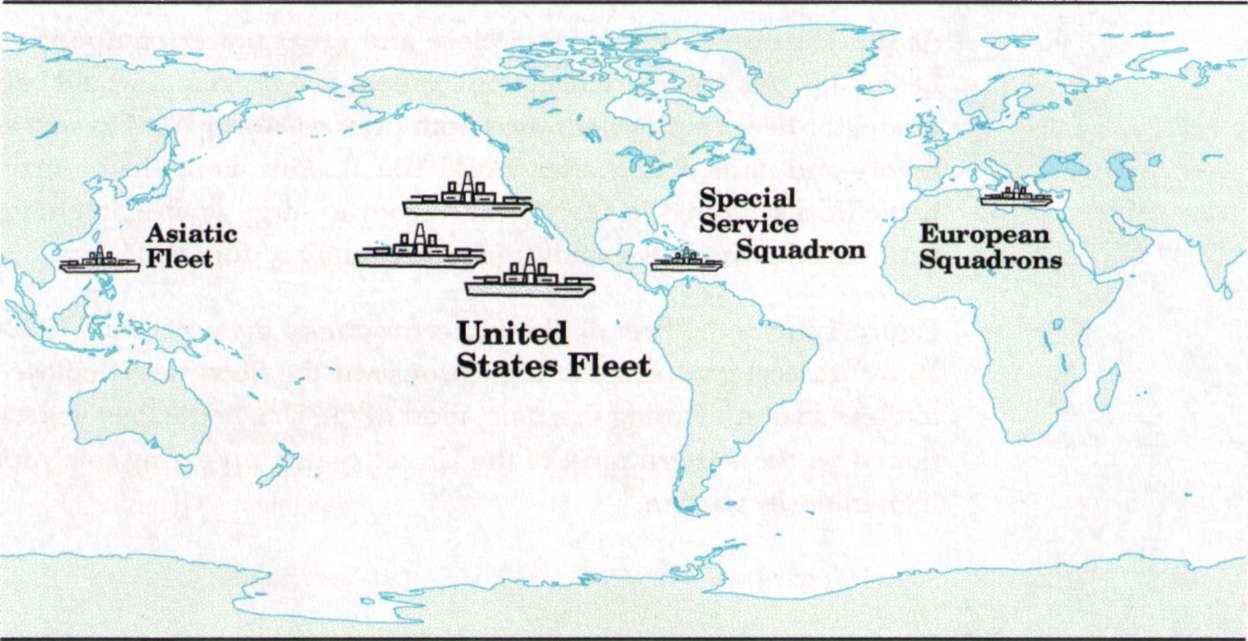 USNavyForwardDeploymentjpg - Map of us fleet deployment