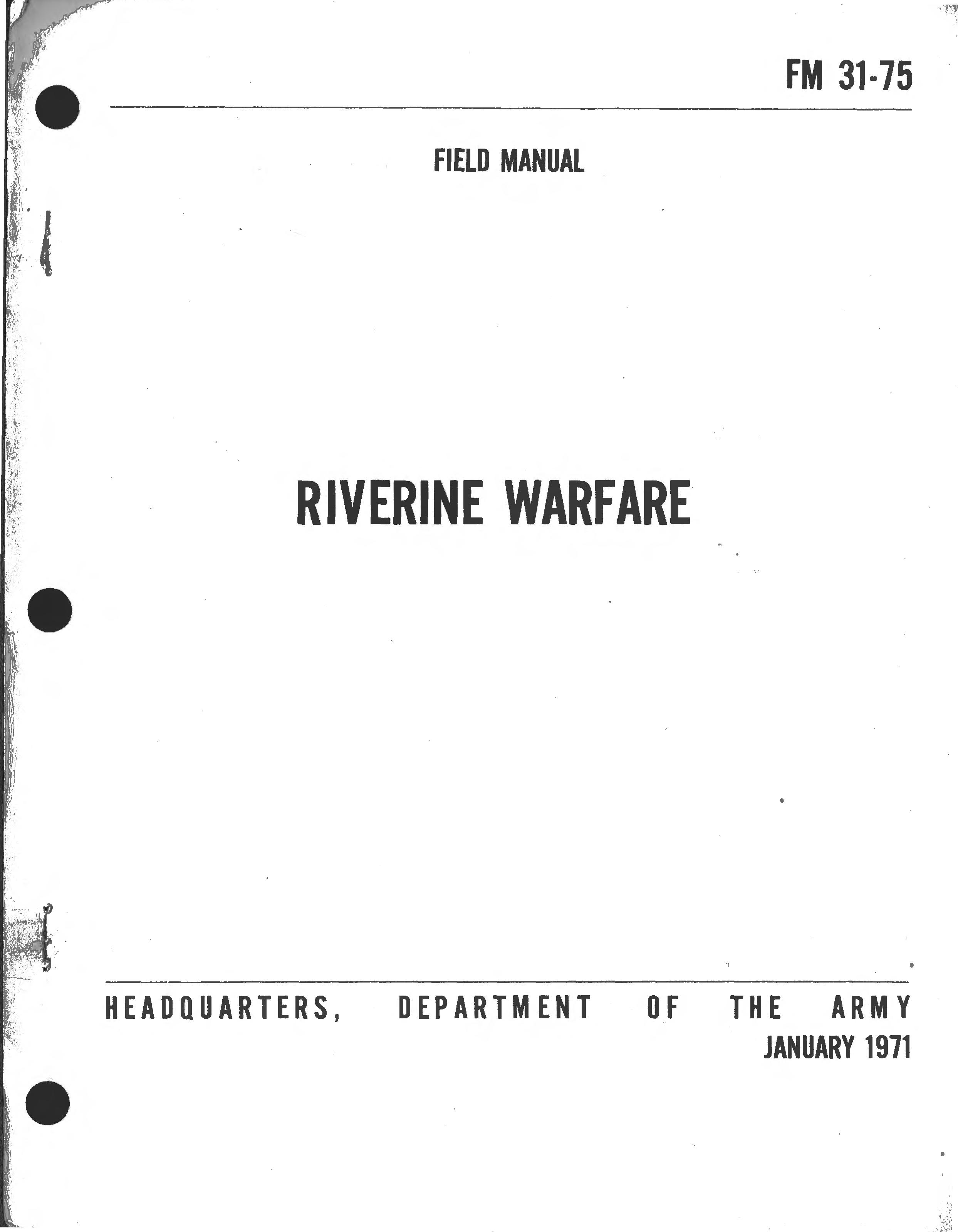 Riverine Warfare Field Manual Fm 31 75 Hp Force Outboard Diagram Wiring Schematic