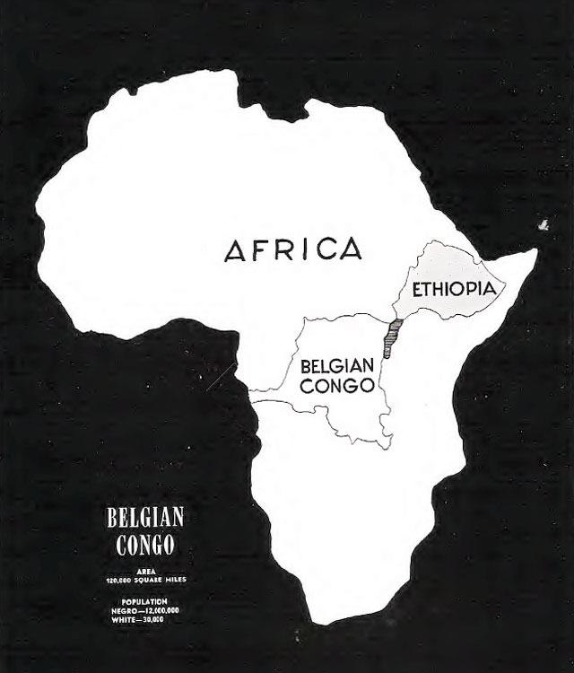 Map Belgium Congo Ibiblio Hyperwar July 7