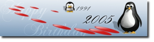 Honoring  the 14th Birthday of Linux