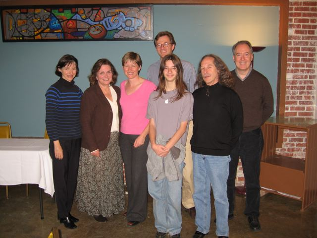 Sally Greene, Elizabeth Edwards, Amy Tiemann, Michael Tiemann, Tucker Jones, Paul Jones, Dan Gillmor