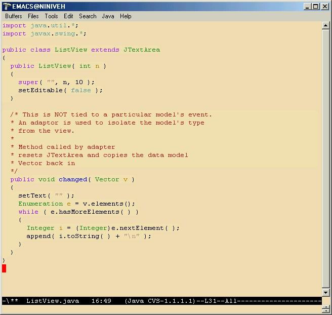 Edición usando emacs del estándar de codificación<br /><br /><br /><br /><br /><br /><br /><br /><br />