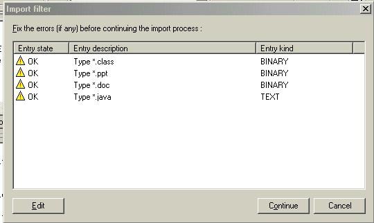 Diálogo de resultados de la importación del módulo.<br /><br /><br /><br /><br /><br /><br /><br /><br /><br /><br /><br /><br /><br /><br />