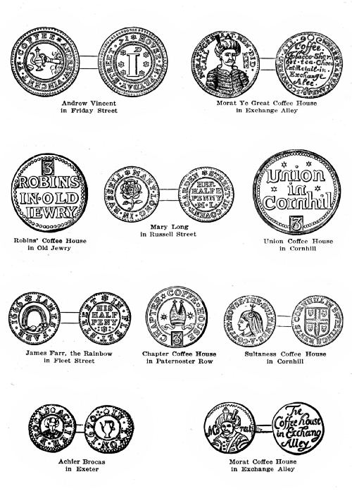 The project gutenberg ebook of all about coffee by william h ukers plate 1coffee house keepers tokens of the 17th century fandeluxe Image collections