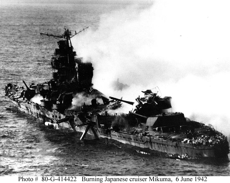Battle Of Midway Sinking Of Japanese Cruiser Mikuma 6