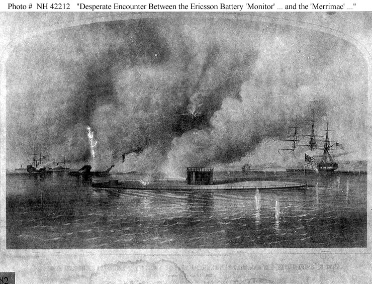 an analysis of the battle between uss monitor and the css merrimack Vintage print depicting the battle of the monitor and merrimack in the us civil war - first ever naval battle between ironclads in this depiction of the battle of hampton roads the ironclad warships uss monitor and css virginia fire on each other.