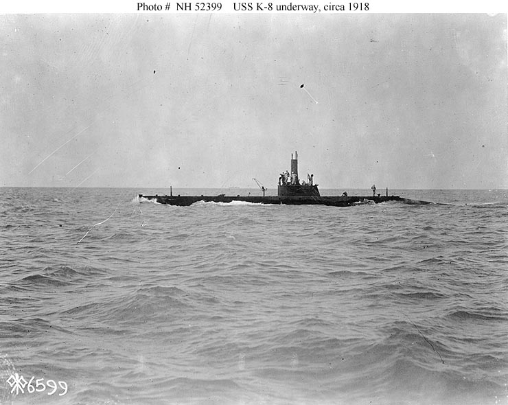 Usn Ships Uss K 8 Submarine 39